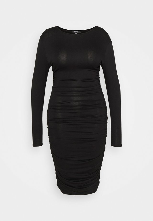 RUCHED SIDE BODYCON DRESS - Jerseyjurk - black
