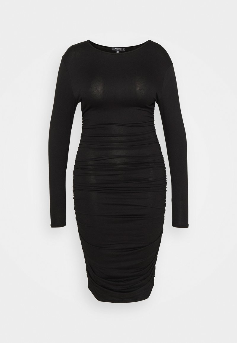 Missguided Plus - RUCHED SIDE BODYCON DRESS - Jersey dress - black
