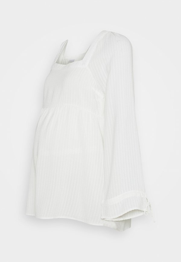 MAMALICIOUS MLVIVIAN - Bluzka - snow white/biały KHZP