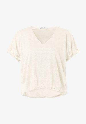 Basic T-shirt - offwhite uni