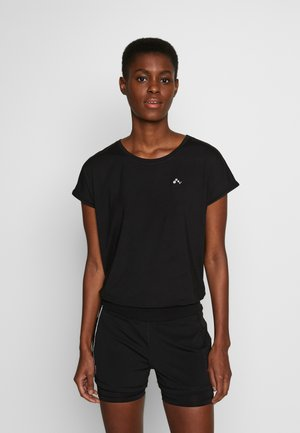ONPAUBREE LOOSE TRAINING TEE  - Printtipaita - black