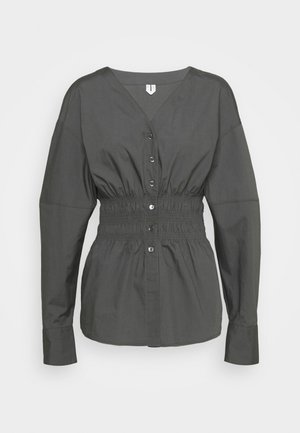 BLOUSE - Blouse - solid grey