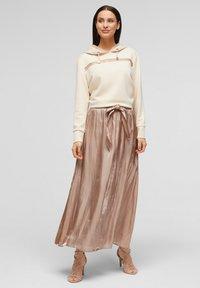 s.Oliver BLACK LABEL - A-line skirt - beige - 1