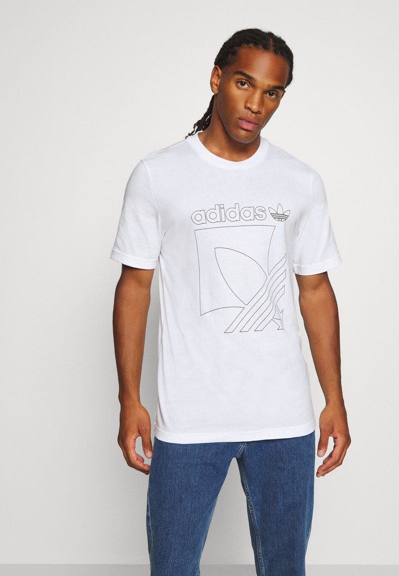 adidas Originals - TEE - Print T-shirt - white