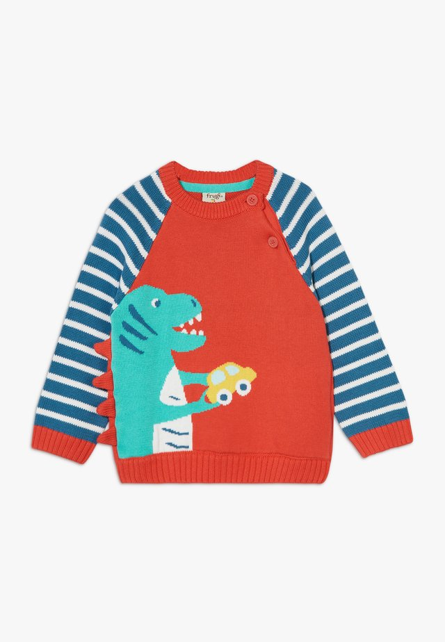 WILFRED JUMPER DINOSAUR BABY - Sweter - koi red