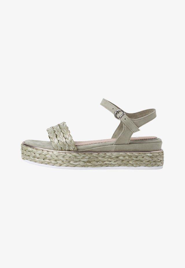 Sandales à plateforme - moss comb