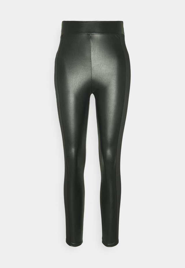 PANELLED - Legginsy - black