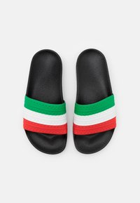 adidas Originals - ADILETTE SPORTS INSPIRED SLIDES UNISEX - Ciabattine - core black/green/red - 3