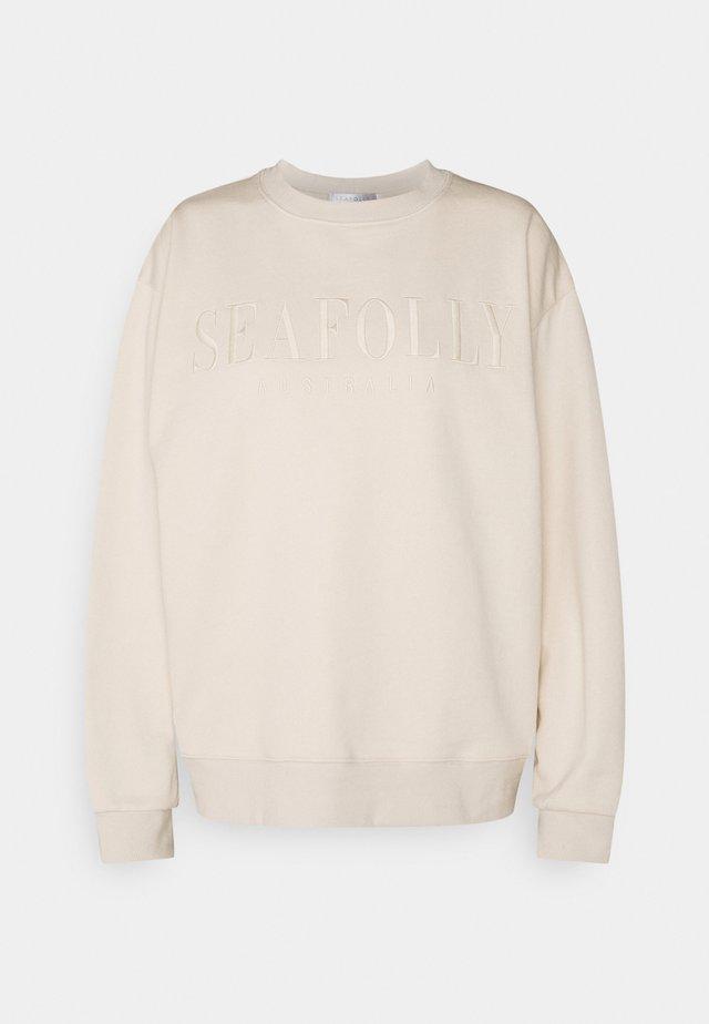 BEACH EDIT LEISURE CREW - Camiseta de pijama - beige