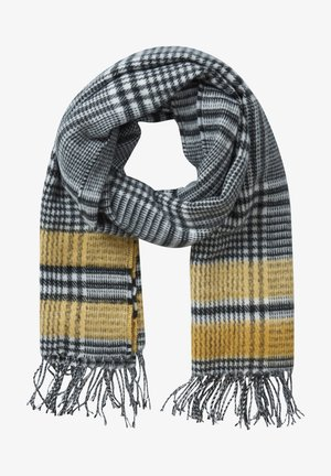 Scarf - grey yellow