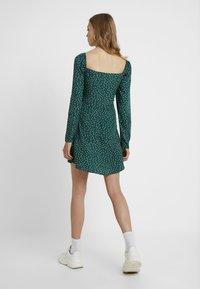 Missguided Tall - MILKMAID SKATER DRESS POLKA - Day dress - green - 3