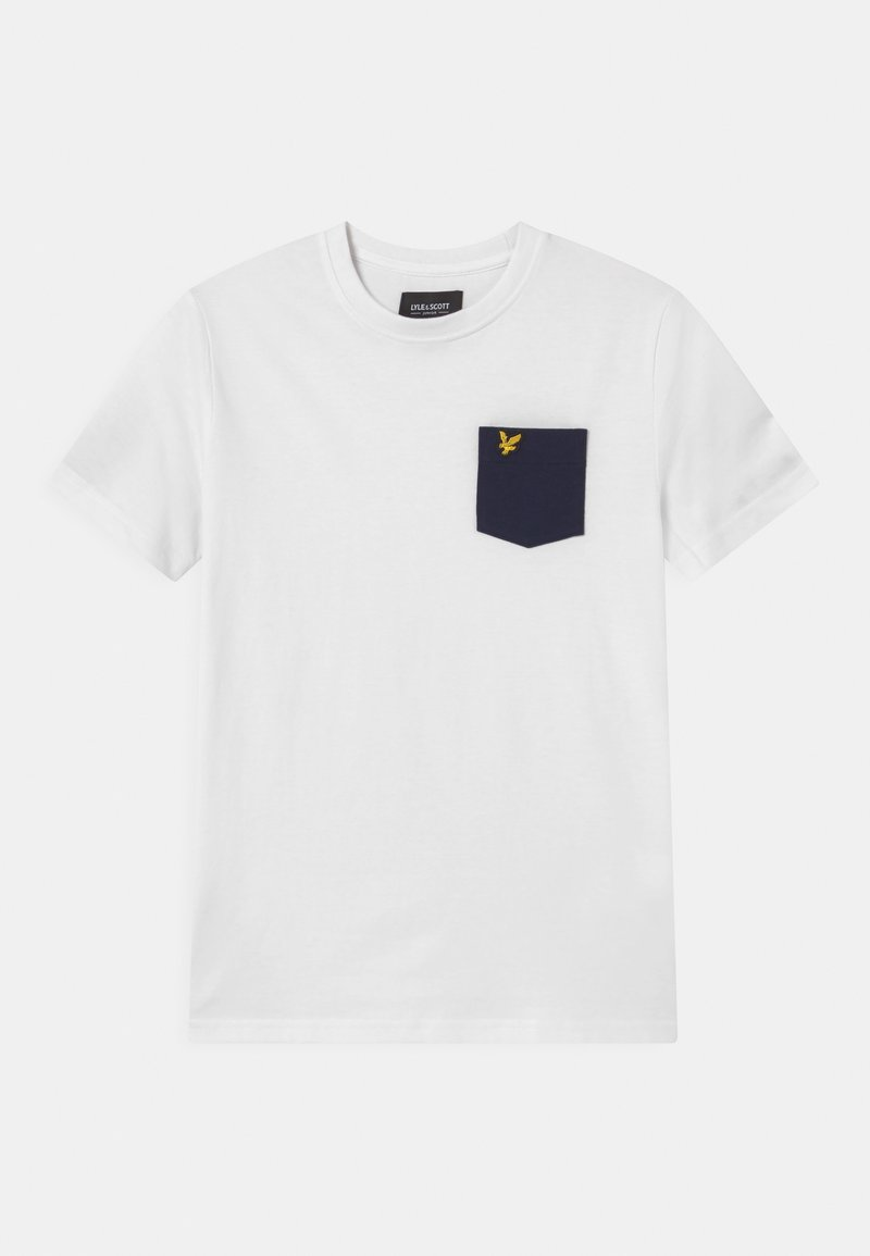 Lyle & Scott - CONTRAST POCKET  - Print T-shirt - bright white
