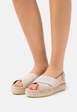 MARLIE - Platform sandals - beige