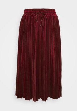 BACIARE - Pleated skirt - burgundy