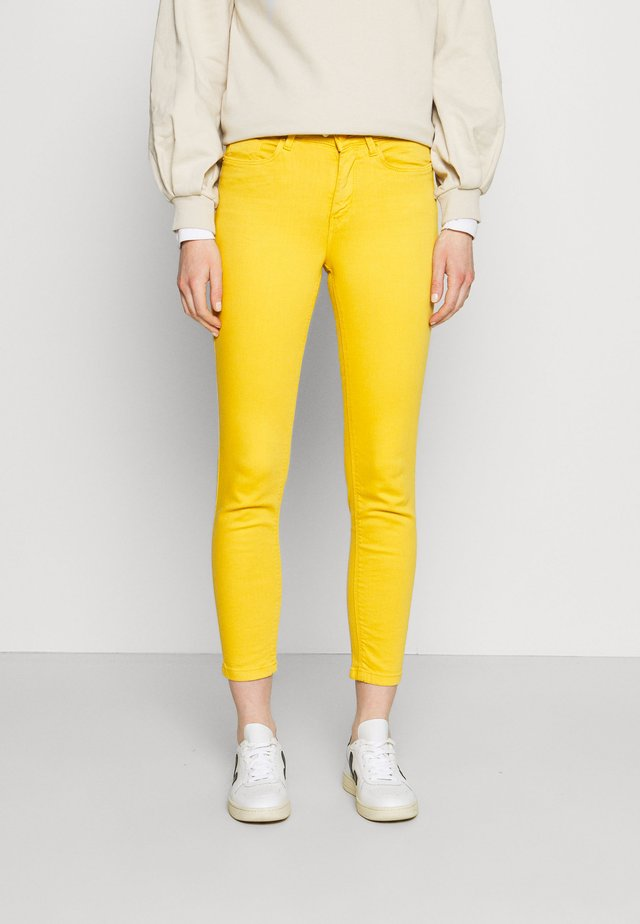 Slim fit jeans - yellow/off-white