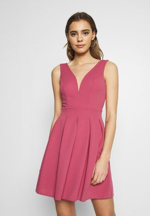 PLEATED SKATER DRESS - Jersey dress - blush
