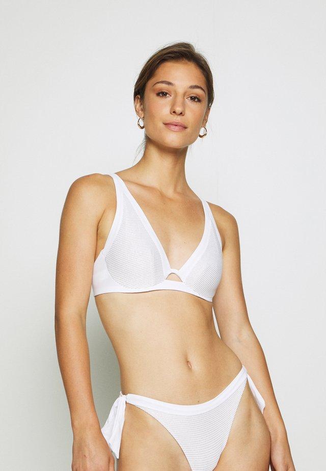 VIBRANT MONOWIRE - Top de bikini - white