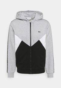 Lacoste Sport - TAPERED - Mikina na zip - gris chine/noir/blanc - 4
