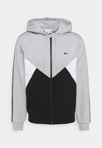 Mikina na zip - gris chine/noir/blanc