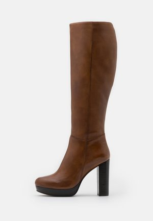 JAMILA - High heeled boots - cognac