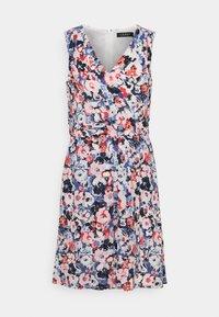 ELNA SLEEVELESS DAY DRESS - Day dress - light navy/pink/multi