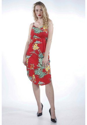 MAIDA  - Day dress - red tropical flowers