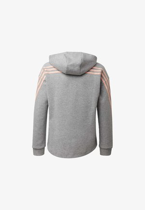 STRIPES FULL-ZIP HOODIE - veste en sweat zippée - grey