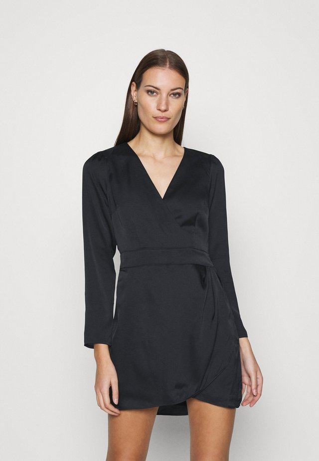 PARTY VNECK DRESS - Cocktail dress / Party dress - black