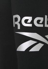 Reebok - LEGGING - Collant - black/silver metallic - 2