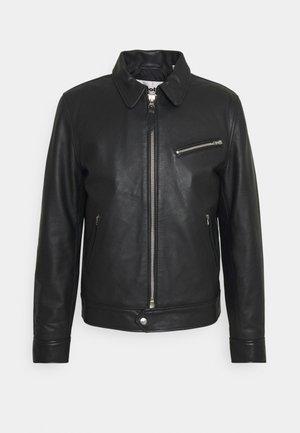 MONTANA - Leather jacket - black