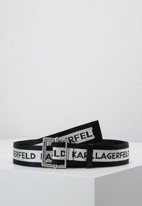 KARL LAGERFELD - LOGO WEBBING BELT - Pásek - black - 0