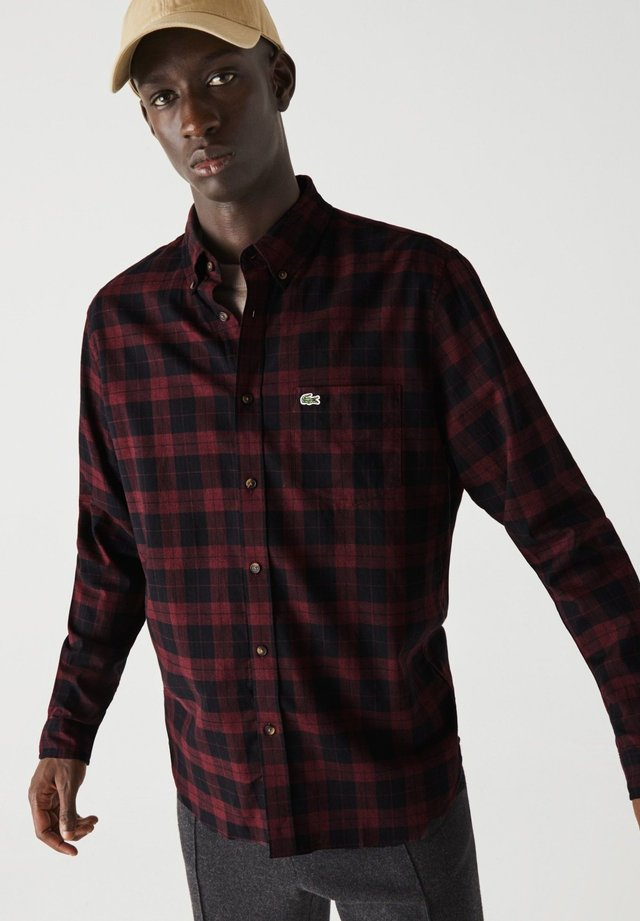 Chemise - noir / bordeaux