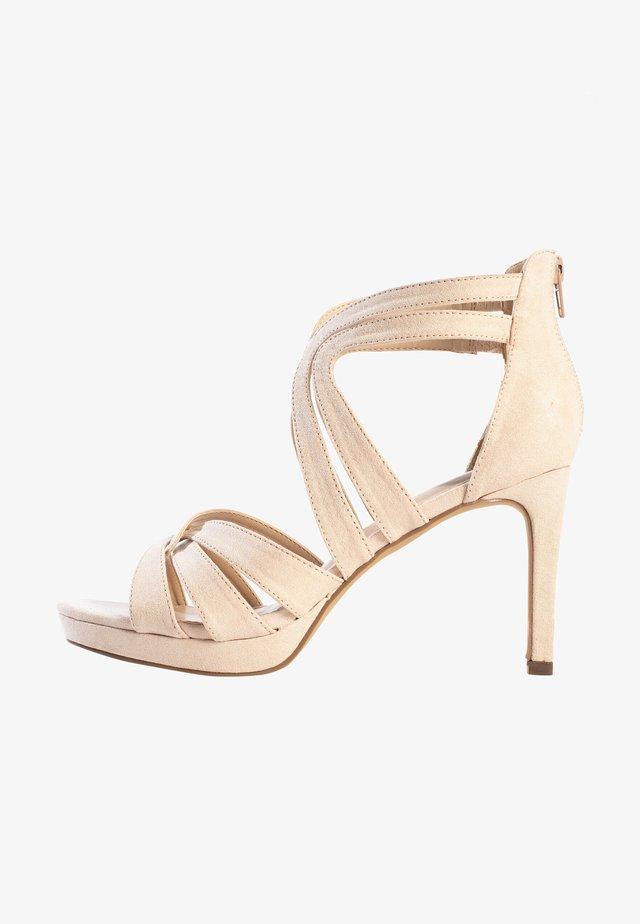 CHERRY - Sandalen met hoge hak - nude