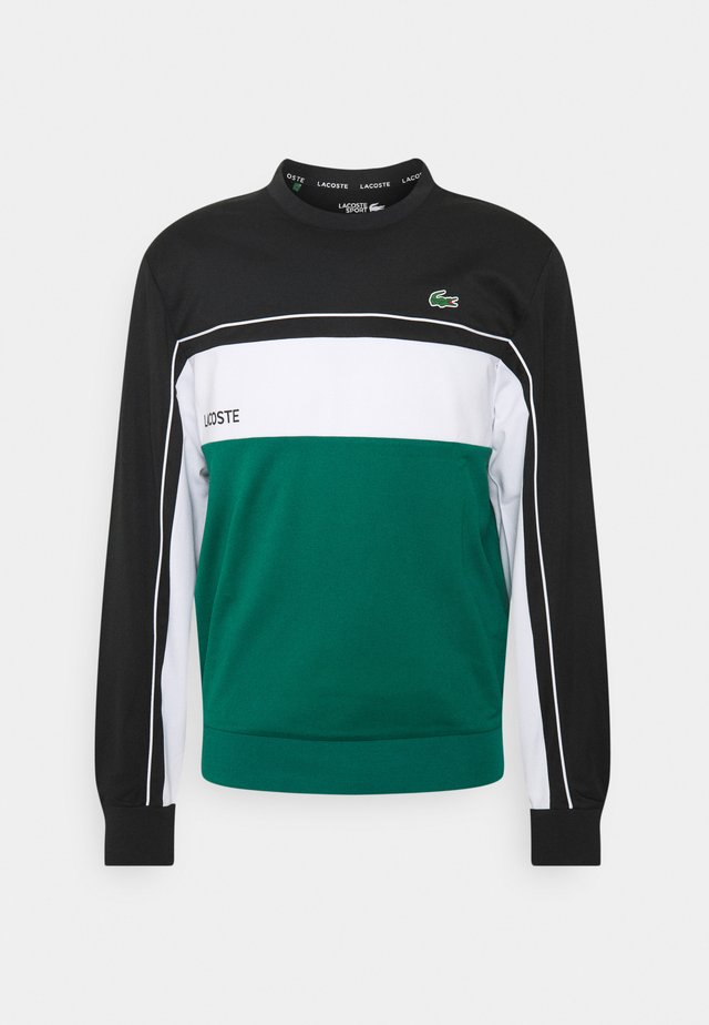 TENNIS - Felpa - black/bottle green/white