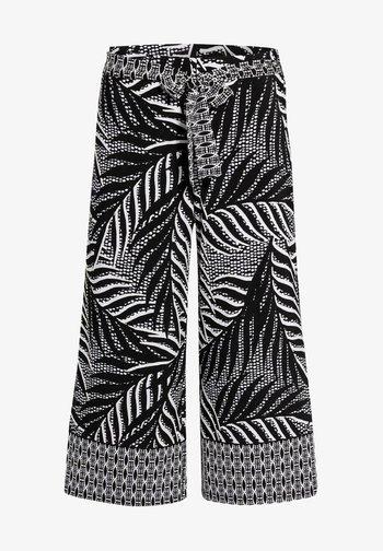 Trousers - black/vanilla
