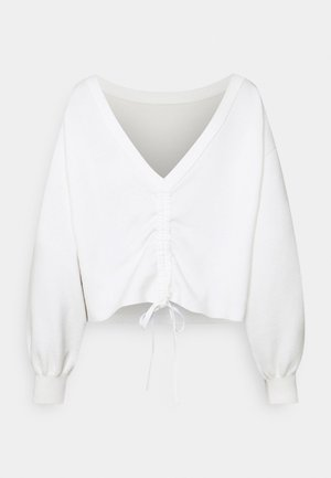 NORA WAY  - Stickad tröja - soft white