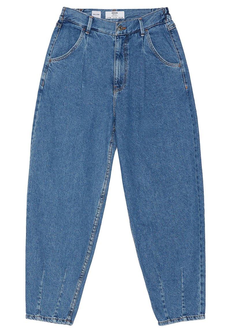Bershka - Jeans Tapered Fit - light blue