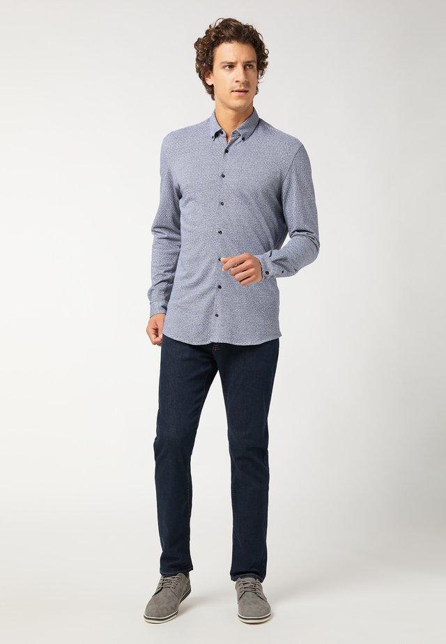 Overhemd - blau/weiss