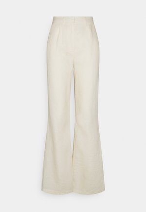 FLARED PANTS - Trousers - light beige
