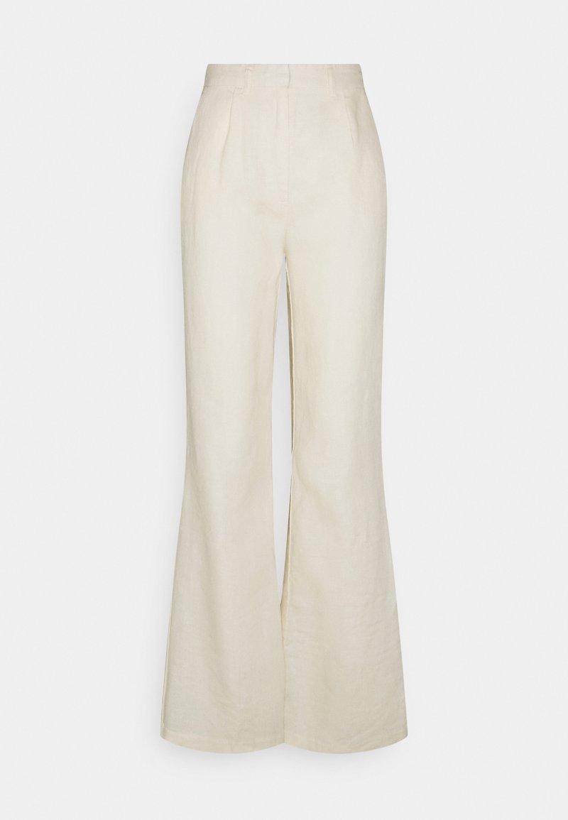 NA-KD - FLARED PANTS - Broek - light beige