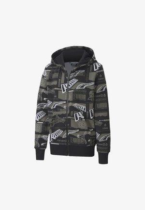 ALPHA   - veste en sweat zippée - black