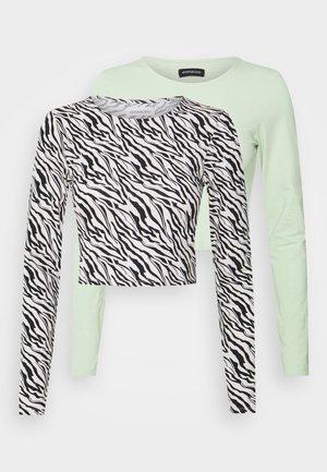 2 PACK - Long sleeved top - light green/black