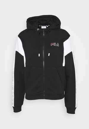 LAIN - veste en sweat zippée - black