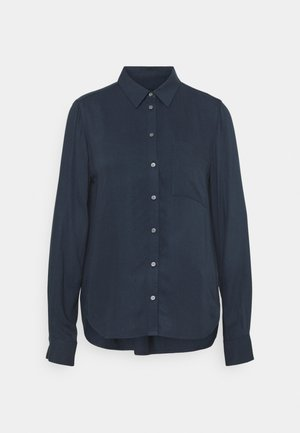 BLOUSE BUTTON THROUGH - Button-down blouse - dark night