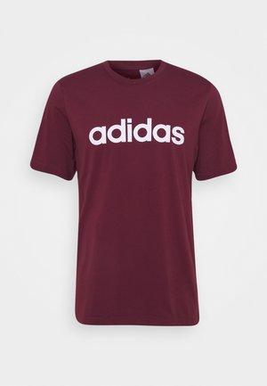 T-shirt med print - victory crimson/white