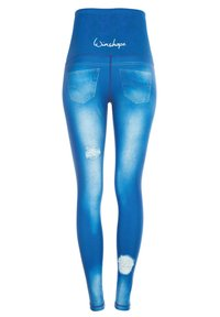 Winshape - HWL102 INDIGO-BLUE HIGH WAIST -TIGHTS - Leggings - ocean blue - 5