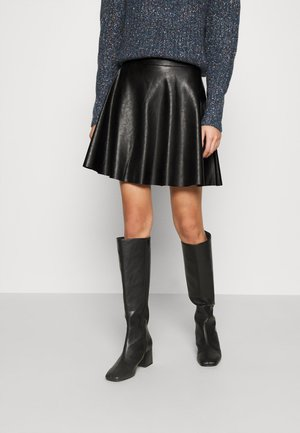 FLIPPY MINI SKIRT - Mini skirt - black