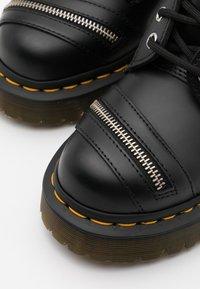 Dr. Martens - 1460 BEX ZIP - Cowboy/biker ankle boot - black smooth - 5