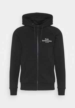 ORIGINAL ZIP HOOD - Zip-up hoodie - black