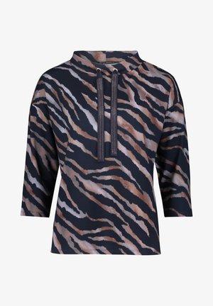 MIT STEHKRAGEN - Sweatshirt - dunkelblau/grau